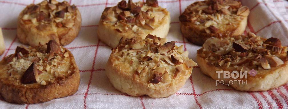 Песочное печенье с миндалем - Рецепт