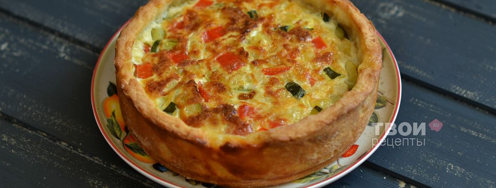 Пирог из картофельного теста с овощами - Рецепт