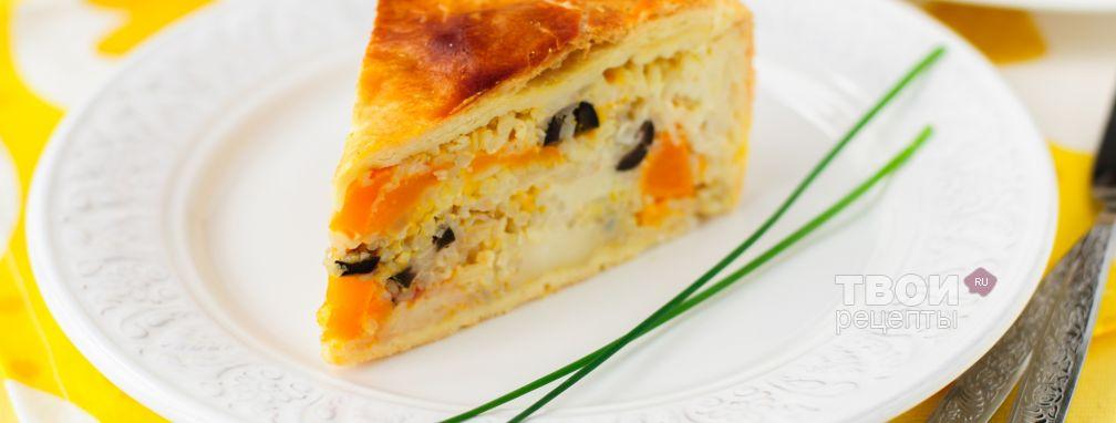 Пирог из слоеного теста - Рецепт