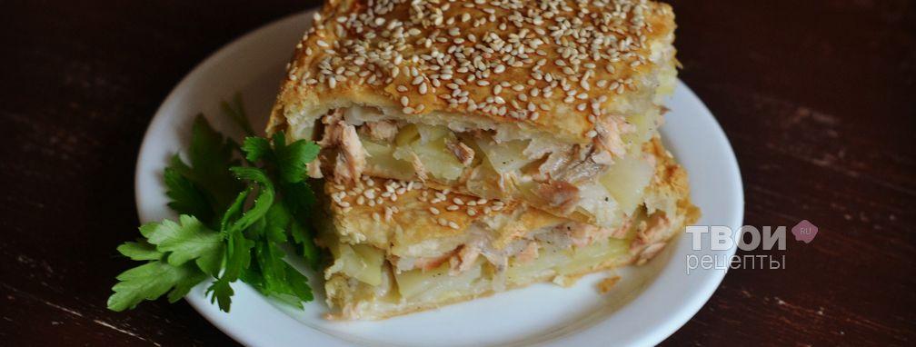 Пирог с горбушей - Рецепт
