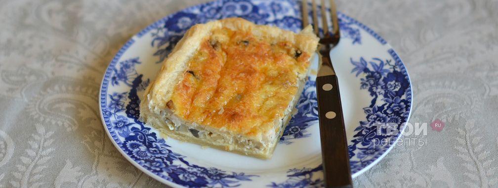 Пирог с грибами и курицей - Рецепт