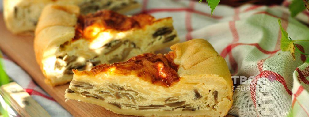Пирог с грибами и сыром - Рецепт