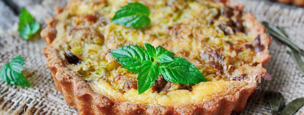 Пирог с грибами - Рецепт