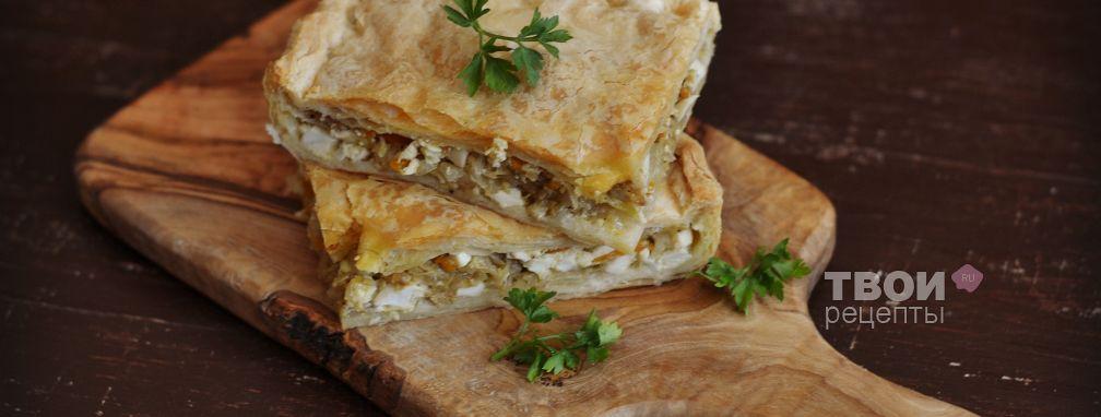 Пирог с капустой и яйцом - Рецепт