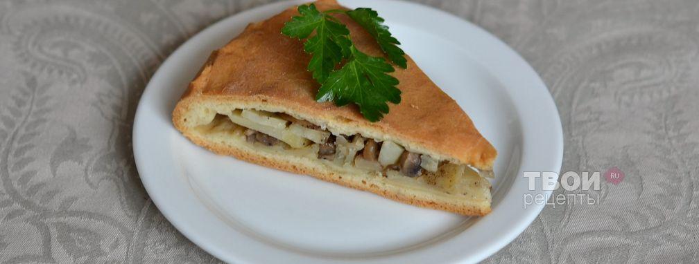 Пирог с картошкой и грибами - Рецепт