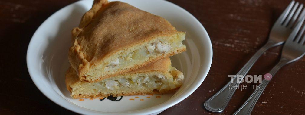 Пирог с картошкой и курицей - Рецепт