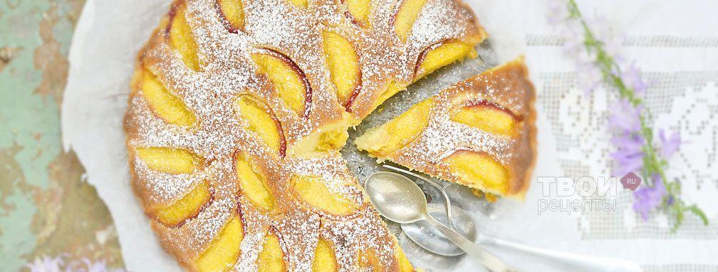 Пирог с персиками свежими - Рецепт
