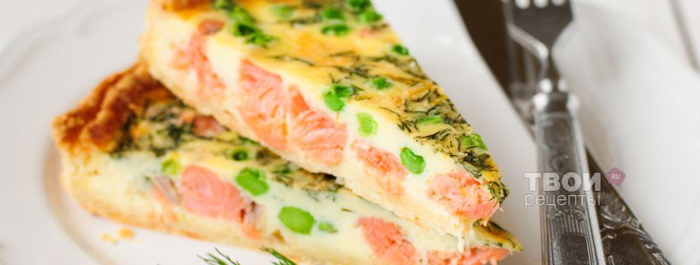 Пирог с красной рыбой - Рецепт