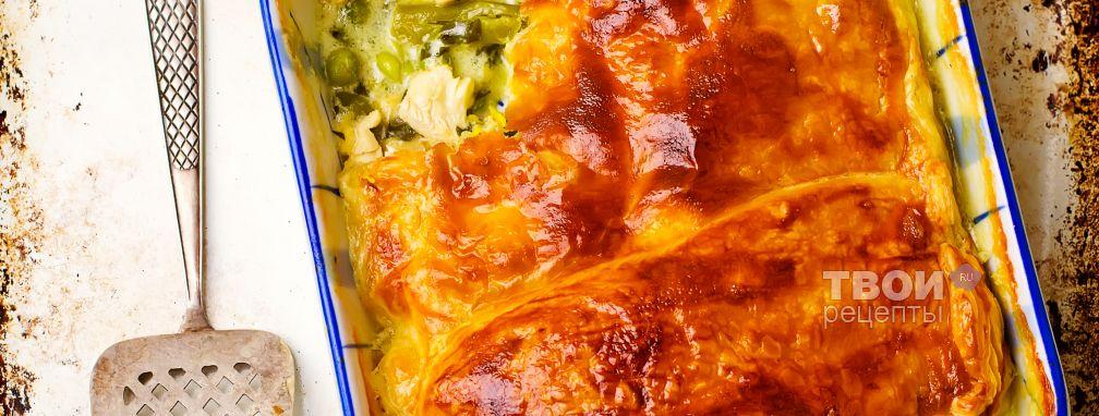 Пирог с курицей в духовке - Рецепт