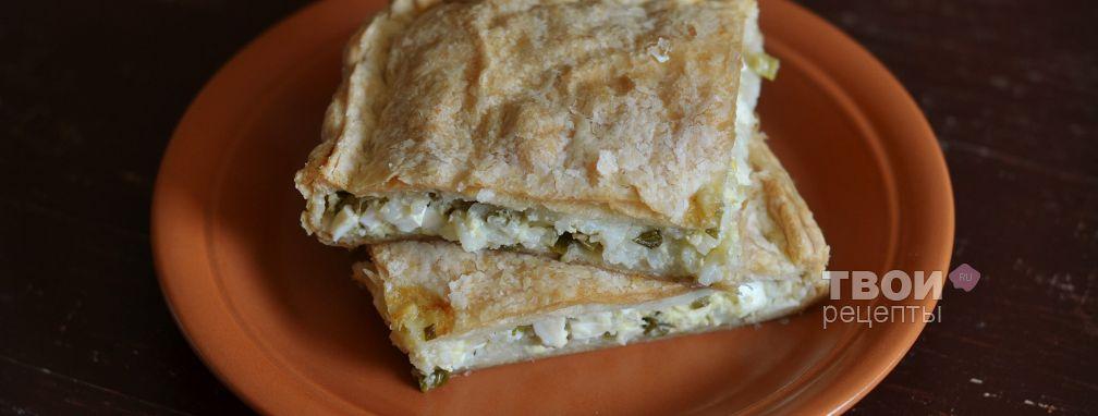 Пирог с рисом и яйцом - Рецепт