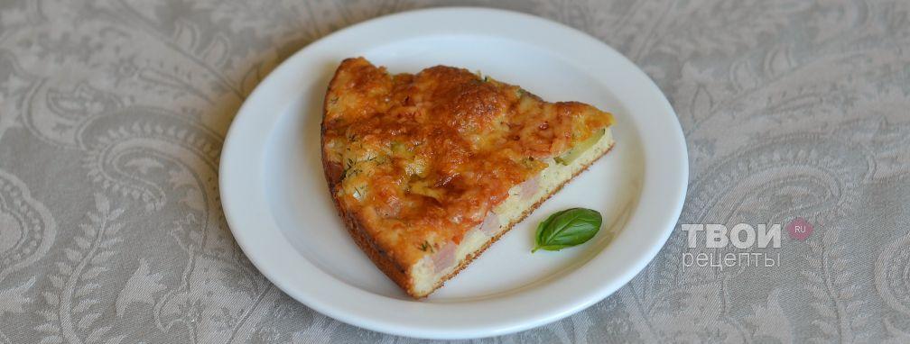Пицца на жидком тесте - Рецепт