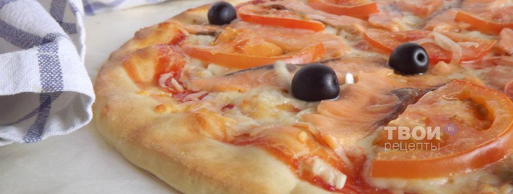 Пицца со слабосоленой семгой - Рецепт