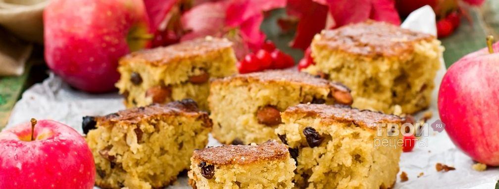 Простой пирог с яблоками - Рецепт