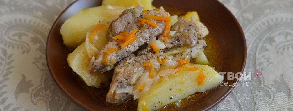 Ребрышки с картошкой в мультиварке - Рецепт