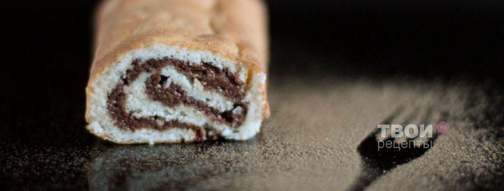 Рулет с шоколадом - Рецепт