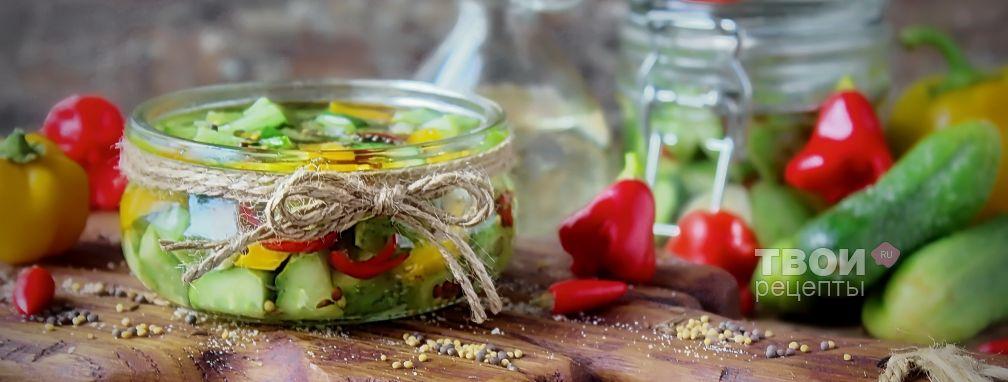 Салат из огурцов на зиму - Рецепт