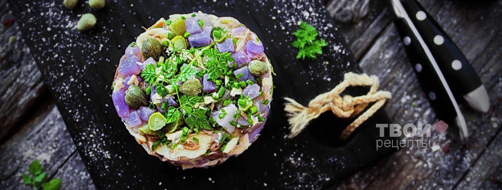 Салат из рыбы отварной - Рецепт
