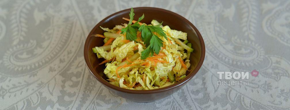 Салат из савойской капусты и редьки - Рецепт