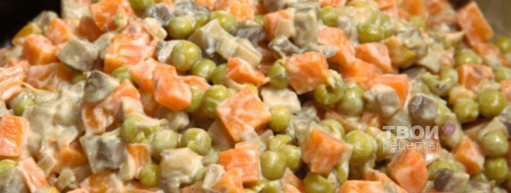 Салат с грибами и морковью - Рецепт