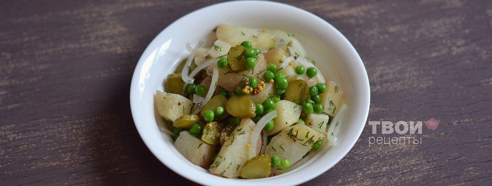 Салат с картофелем и зеленым горошком - Рецепт