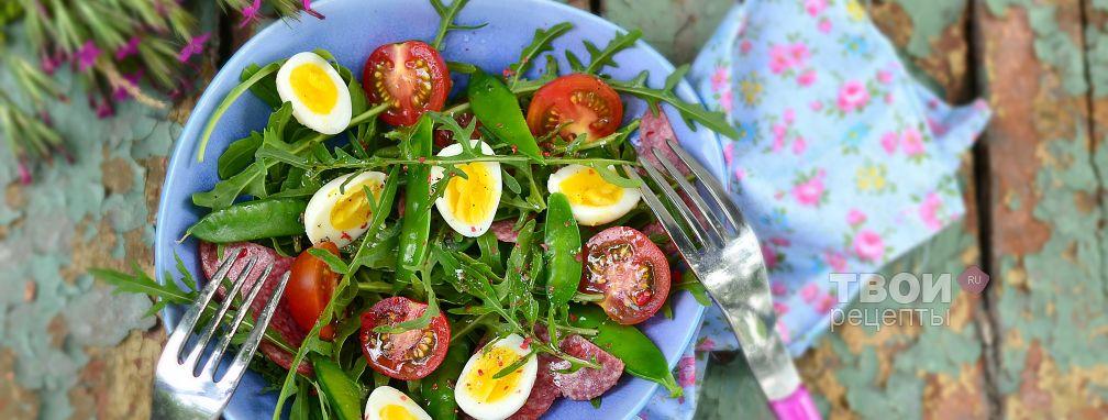 салат яичный с колбасой рецепт с фото