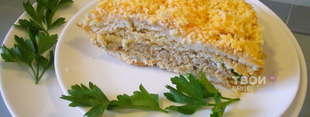 Салат с крекерами - Рецепт