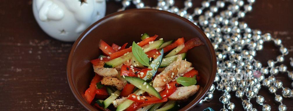 Салат с курицей и огурцом - Рецепт