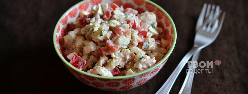 Салат с курицей и орехами - Рецепт