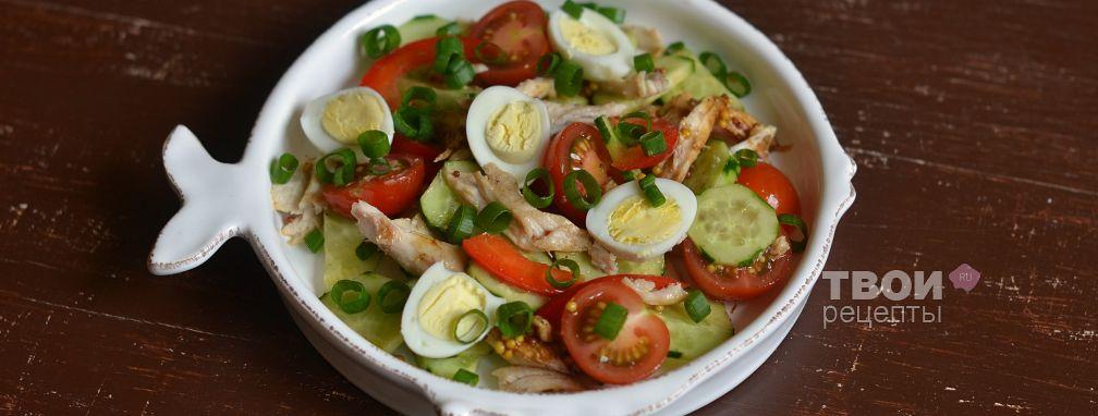 Салат с перепелиными яйцами - Рецепт