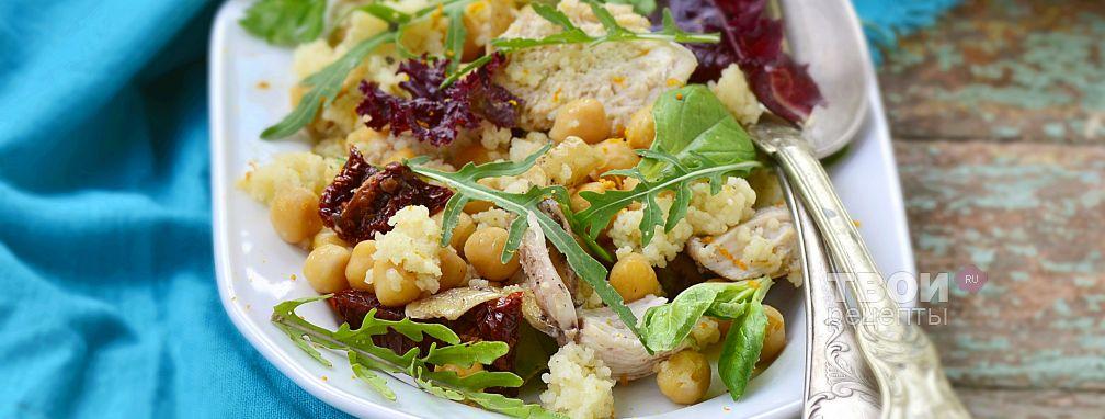 Салат с вареной курицей - Рецепт