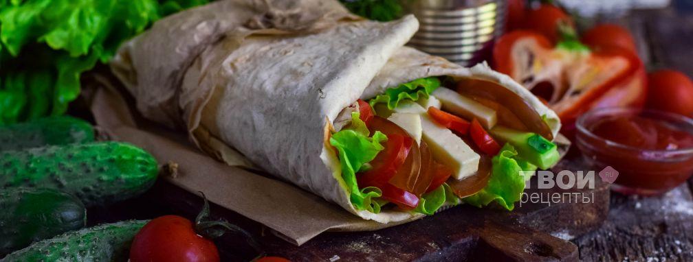 Салат в лаваше - Рецепт