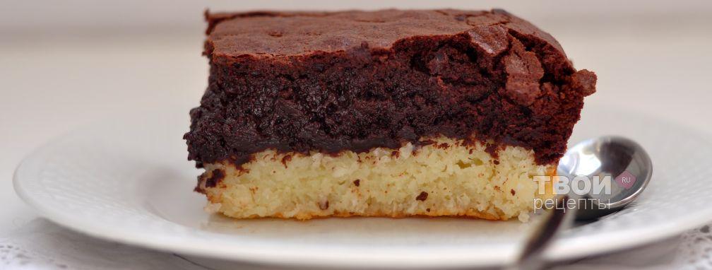 Шоколадно-кокосовые брауниз - Рецепт