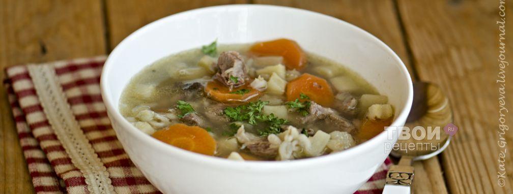 Шотландский суп из баранины - Рецепт