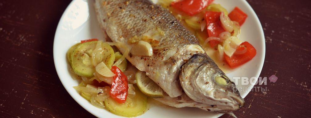 Сибас на овощной подушке - Рецепт
