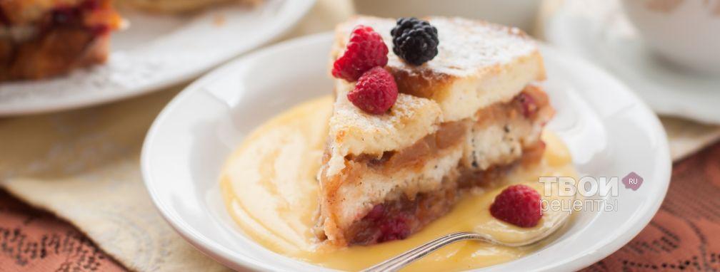 Скорый пирог с вареньем - Рецепт