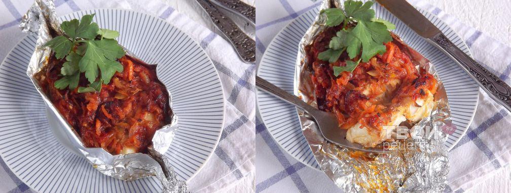 Скумбрия, запеченная с овощами - Рецепт