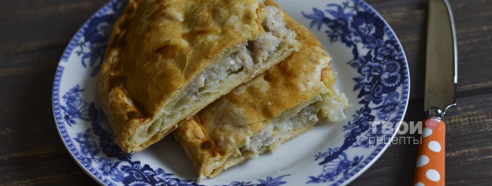 слоеный пирог с курицей рецепт с фото