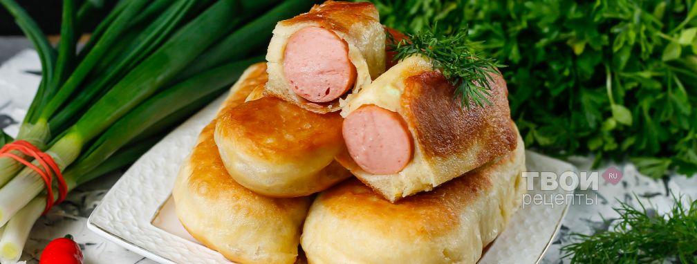 Сосиски в тесте на сковороде - Рецепт
