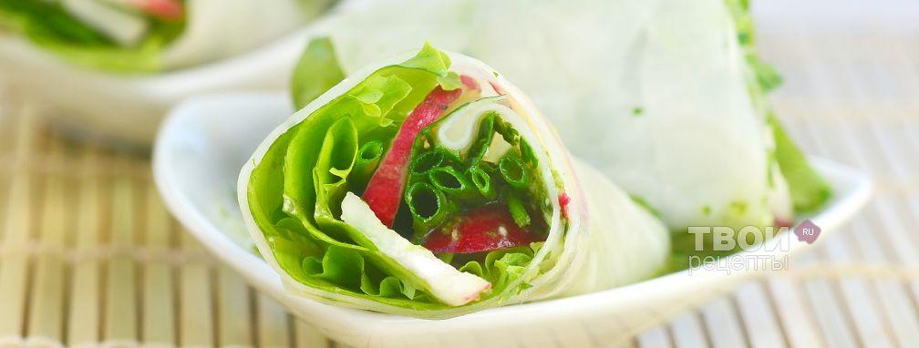 Спринг роллы с овощами - Рецепт