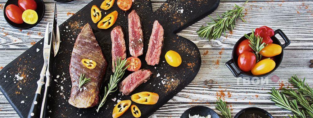 Стейк из говядины на сковороде - Рецепт