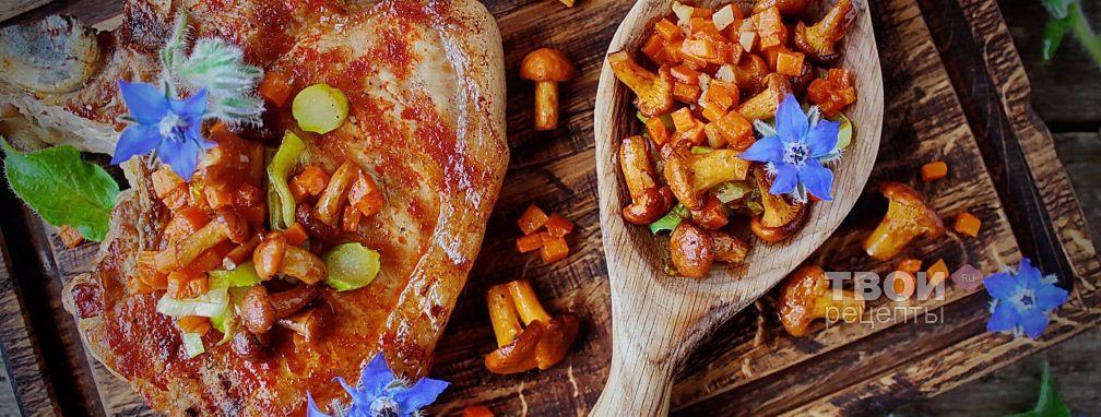Стейк из свинины на сковороде - Рецепт