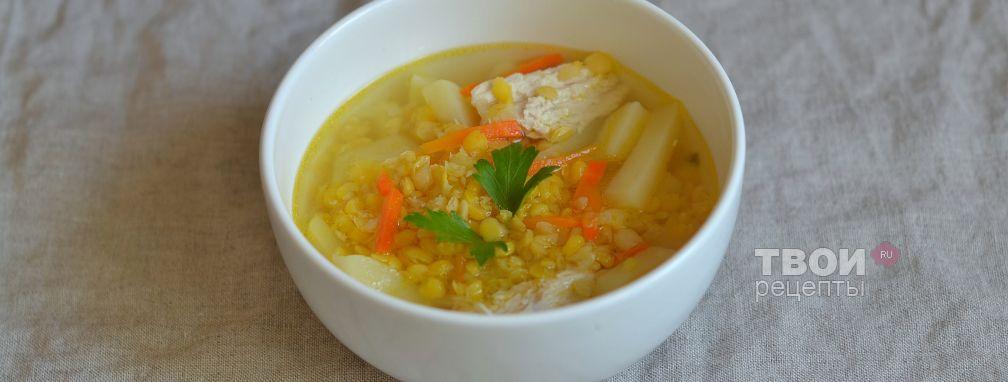 Гороховый суп с курицей - Рецепт