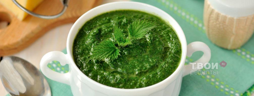 Суп-пюре из крапивы - Рецепт
