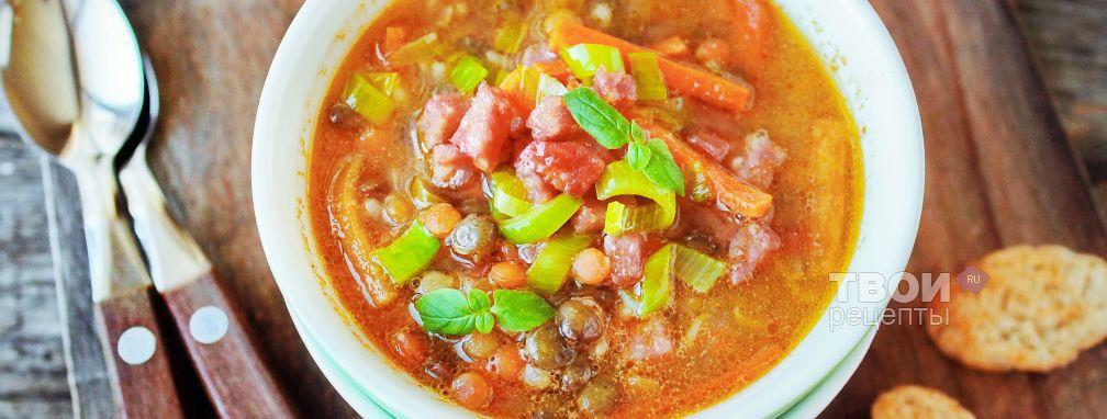 Суп с колбасой - Рецепт