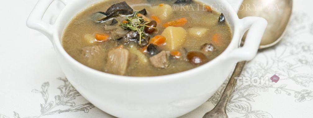 Суп с лесными грибами - Рецепт