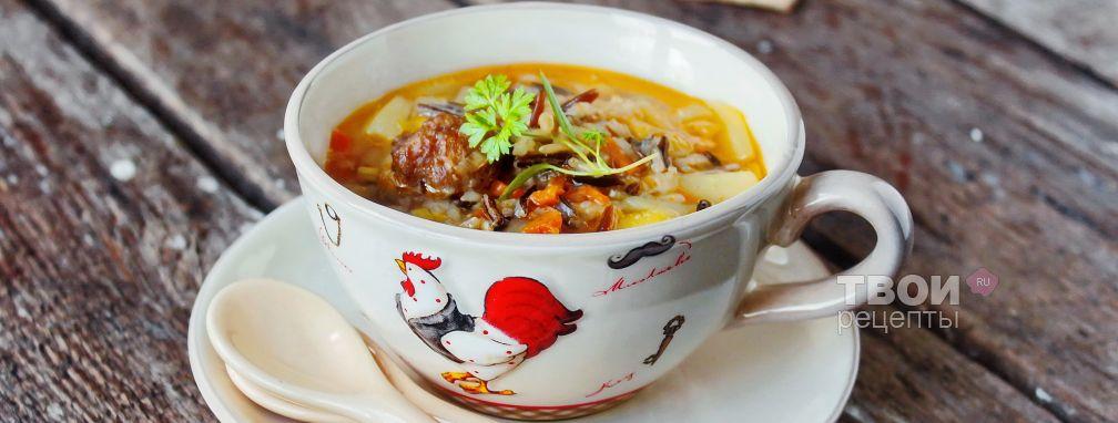 Суп с рисом - Рецепт