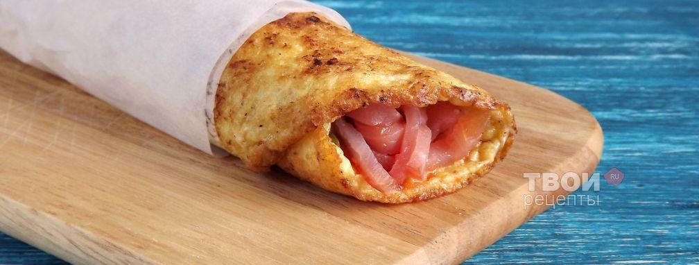 Сырный омлет с ветчиной - Рецепт