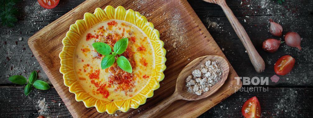 Сырный суп с курицей - Рецепт