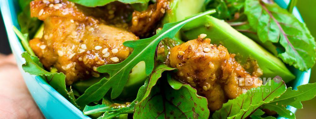 Теплый куриный салат - Рецепт