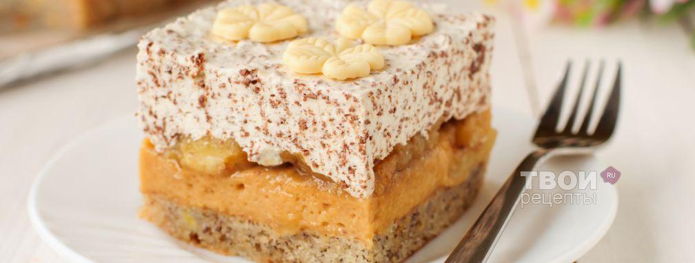 Торт с бананами - Рецепт